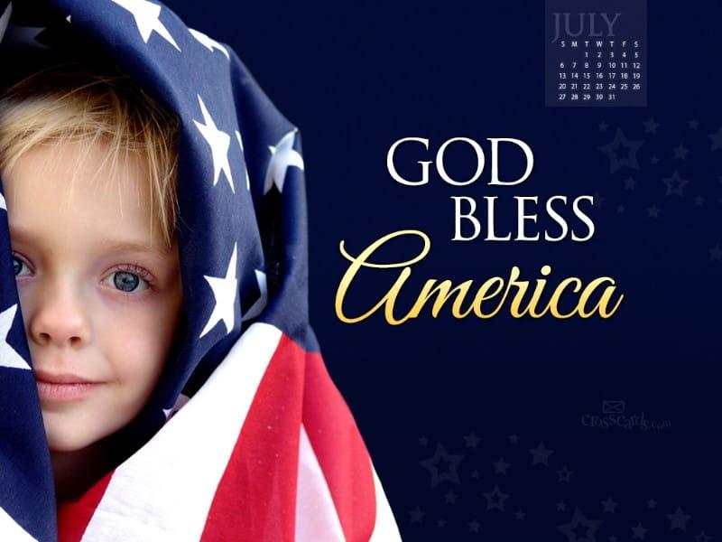 July 2014 - God Bless America mobile phone wallpaper