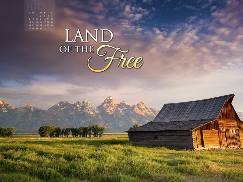 July 2014 - Land of the Free mobile phone wallpaper