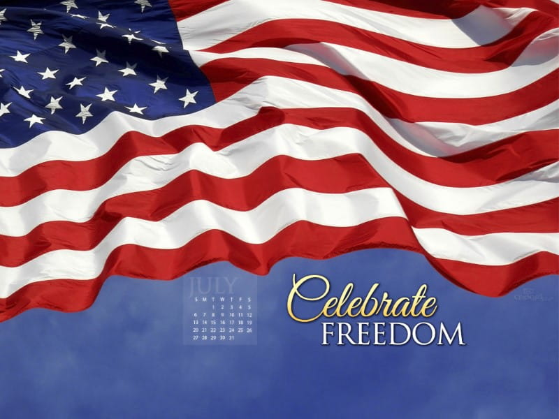 July 2014 - Celebrate Freedom mobile phone wallpaper
