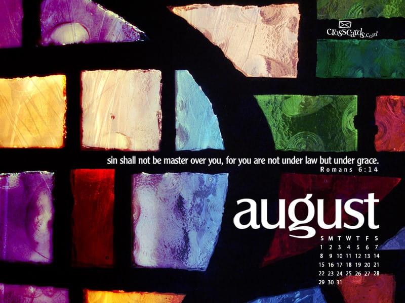 August 2010 - Romans 6:14 mobile phone wallpaper