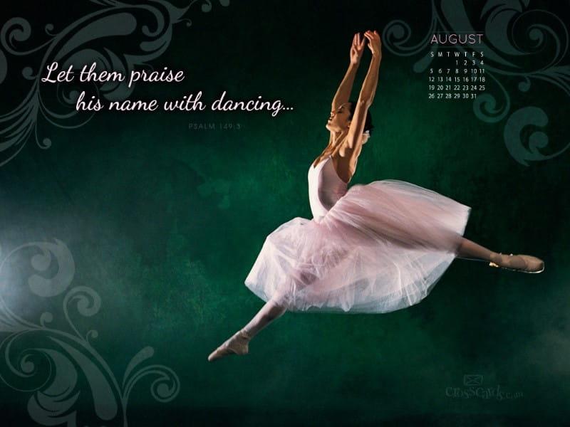 August 2012 - Dancing mobile phone wallpaper