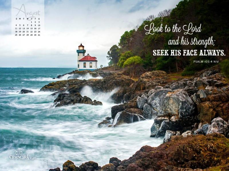 August 2013 - Psalm 105:4 NIV mobile phone wallpaper