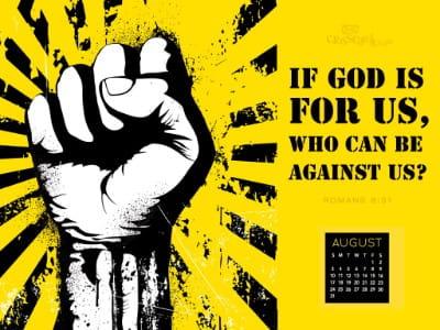 August 2014 - God For Us mobile phone wallpaper