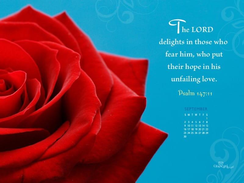 Sept. 2012 - Unfailing Love mobile phone wallpaper
