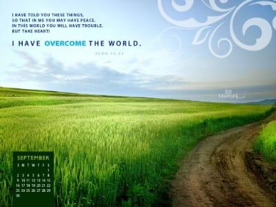 Sept. 2012 - Overcome mobile phone wallpaper
