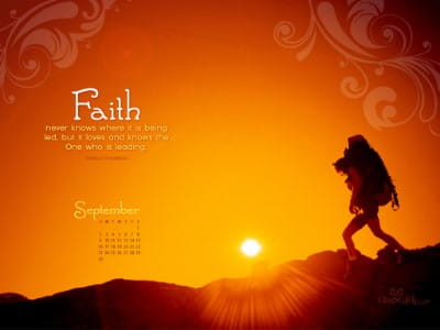 Sept. 2012 - Faith mobile phone wallpaper