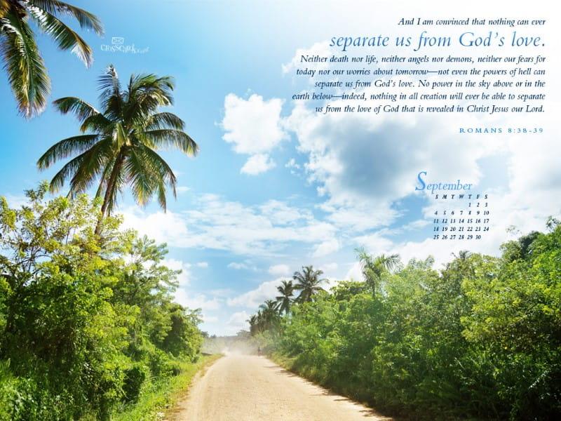 September 2011 - God's Love mobile phone wallpaper