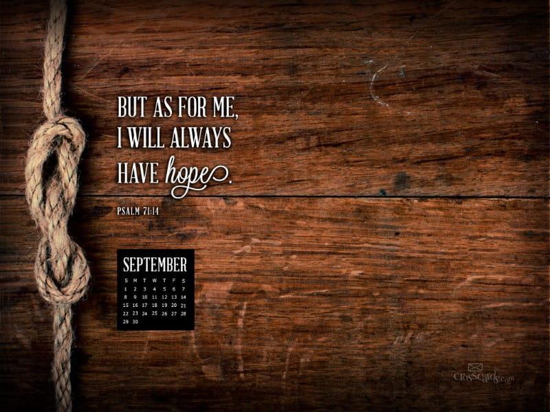 Sept 2013 - Psalm 71:14 mobile phone wallpaper