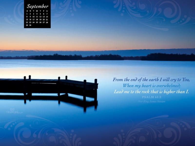 Sept 2013 - Psalm 61:2 mobile phone wallpaper