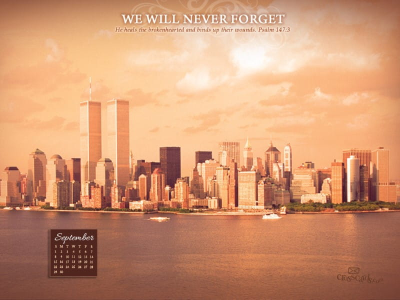 Sept 2013 -Never Forget mobile phone wallpaper