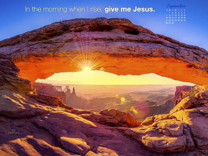 Sept 2014 - Give Me Jesus mobile phone wallpaper