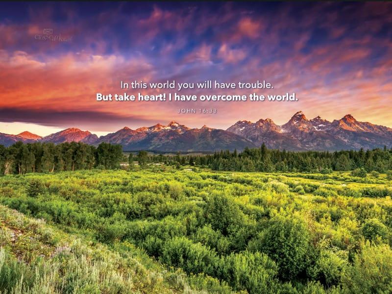 John 16:33 mobile phone wallpaper