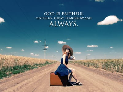 Faithful God mobile phone wallpaper