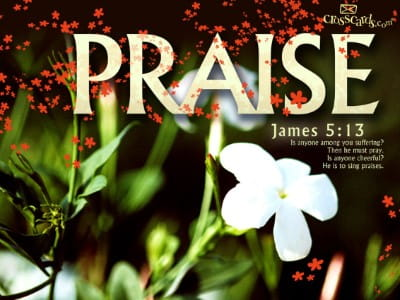 James 5:13 mobile phone wallpaper