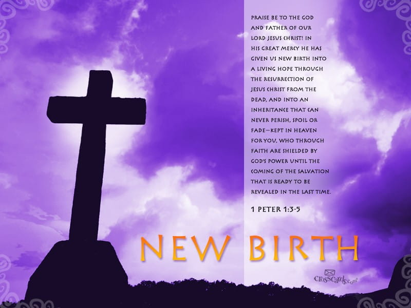 New Birth - 1 Peter 1:3-5 mobile phone wallpaper