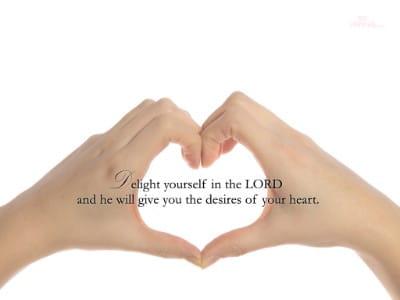 Psalm 37:4 mobile phone wallpaper