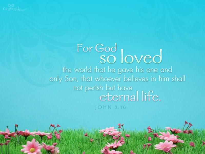 John 3:16 mobile phone wallpaper