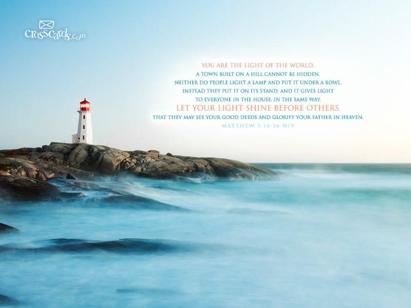 Matthew 5:14-16 NIV mobile phone wallpaper