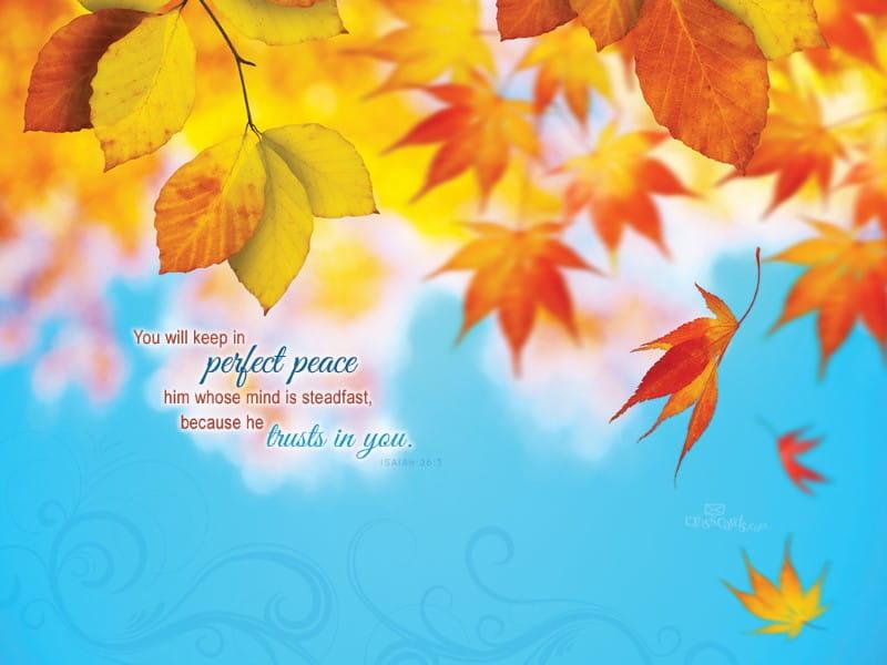 Isaiah 26:3 mobile phone wallpaper