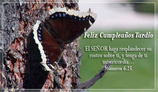 Feliz Cumpleaños Tardío ecard, online card