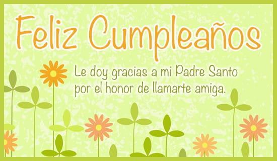 Le doy gracias a mi Padre Santo ecard, online card
