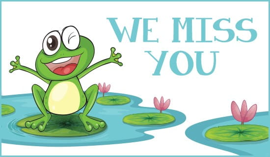 We Miss You ecard, online card