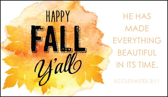 Happy Fall Y'All ecard, online card