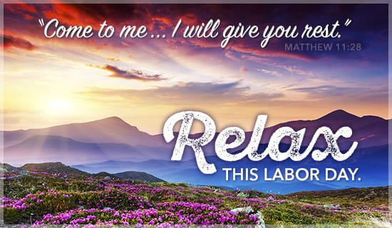 Relax this Labor Day ecard, online card