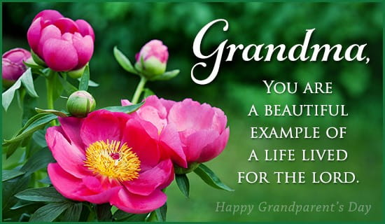 Grandma - Godly Example ecard, online card