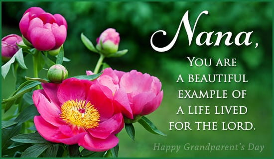 Nana - Godly Example ecard, online card