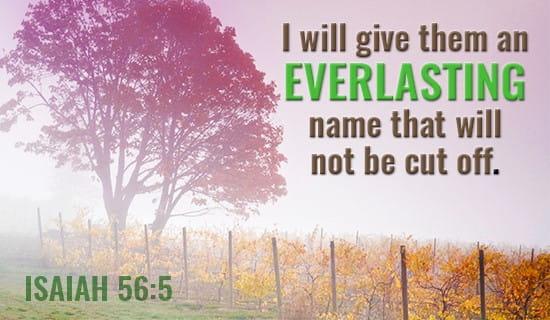 Isaiah 56:5 ecard, online card