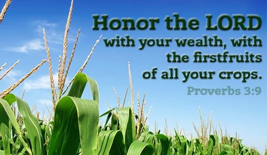 Proverbs 3:9 ecard, online card
