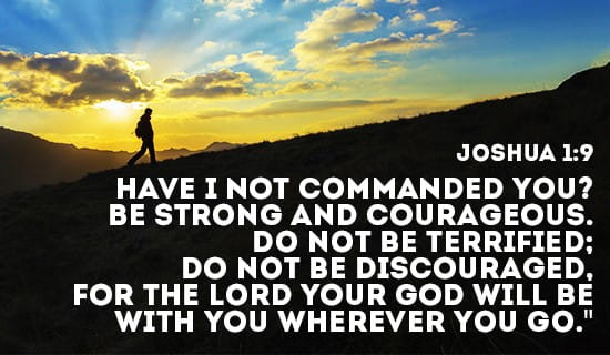 Don't be discouraged, God's got your back! ecard, online card