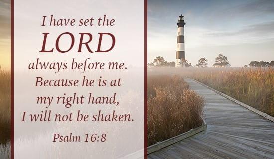 Psalm 16:8 ecard, online card
