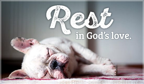 Rest in God's Love ecard, online card