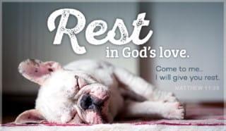 Rest in God's Love ecard, online card