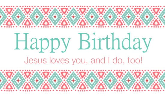 Jesus Loves You, and I Do, Too! ecard, online card