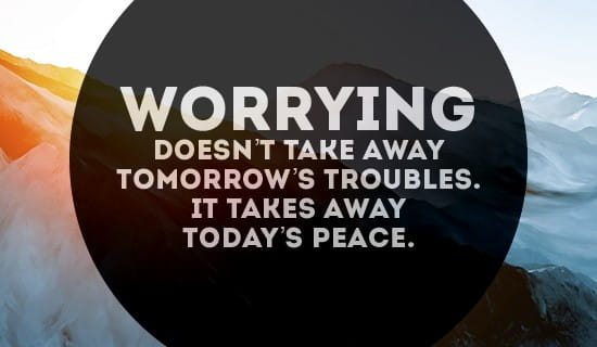 Worrying won't do you any good ecard, online card