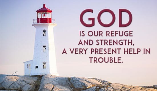 God is my refuge! ecard, online card