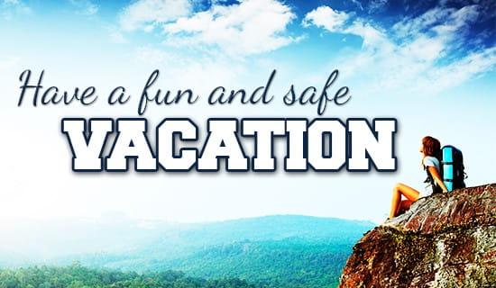 Be safe! ecard, online card