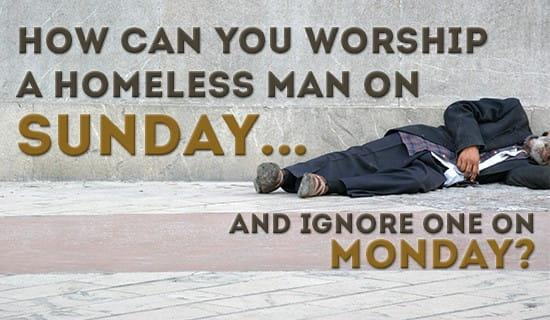 Homeless Man ecard, online card