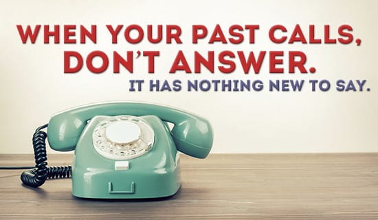 When your past calls... ecard, online card