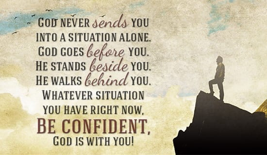 GOD IS WITH YOU! ecard, online card