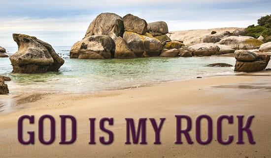 God is my ROCK! ecard, online card