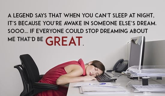 I just want some sleep :P ecard, online card