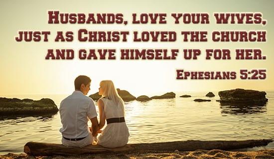 Ephesians 5:25 ecard, online card