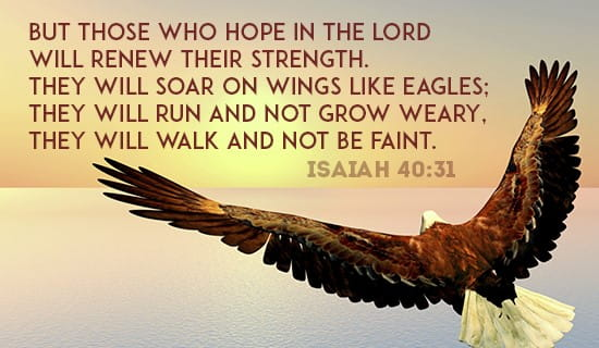 Hope In The Lord - Isaiah 40:31 ecard, online card