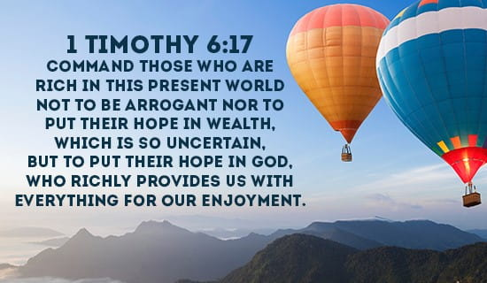 1 Timothy 6:17 ecard, online card