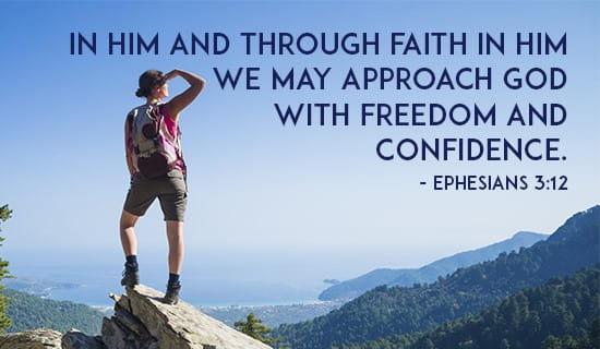 Ephesians 3:12 ecard, online card