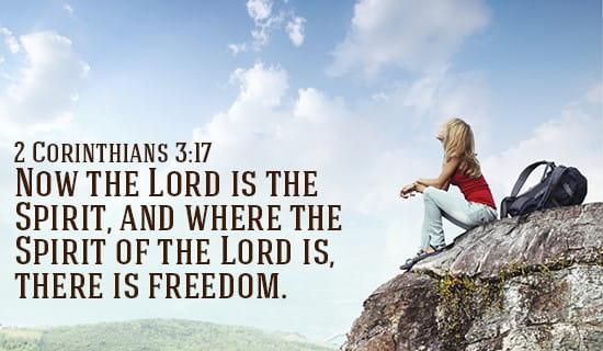 2 Corinthians 3:17 ecard, online card